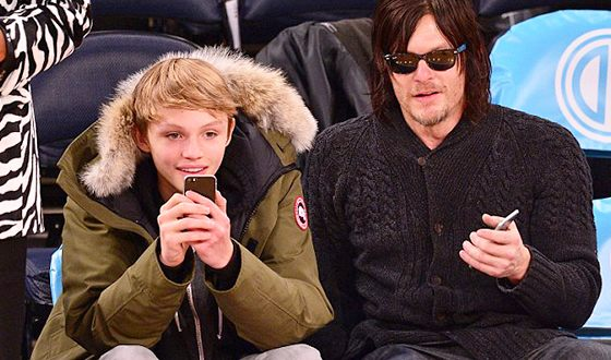 Norman Reedus with a Son