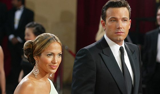Jennifer Lopez with Ben Affleck