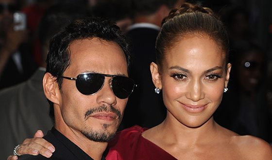 Marc Anthony with Jennifer Lopez