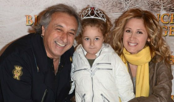 Lara Fabian with her ex-husband and her daughter Lou