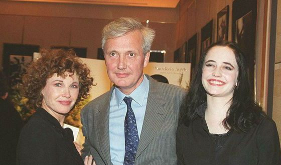 Eva Green with her parents