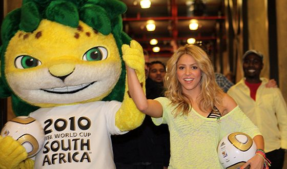 Shakira recorded the official song for the FIFA World Cup