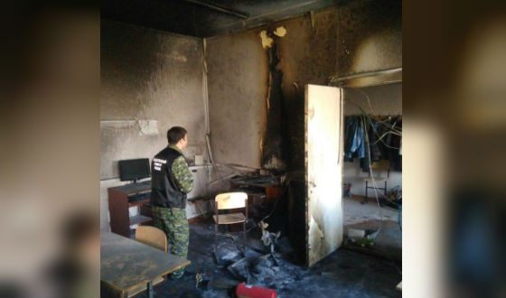 The burned classroom