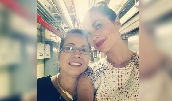 Olivia Munn with her mom