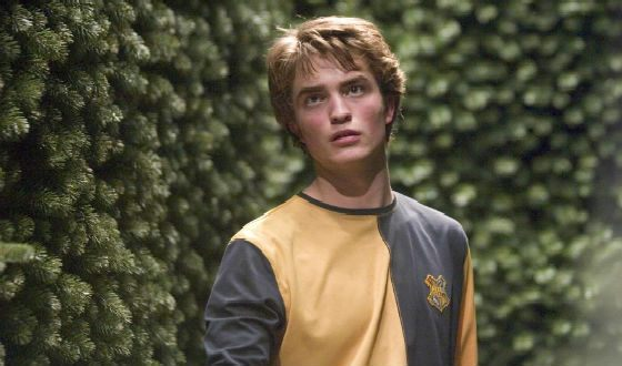 Robert Pattinson playing Cedric Diggory