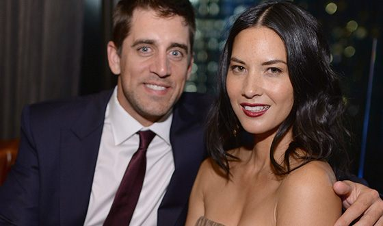 Olivia Munn with Aaron Rodgers