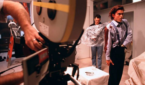 "On the set of ""American Psycho"""