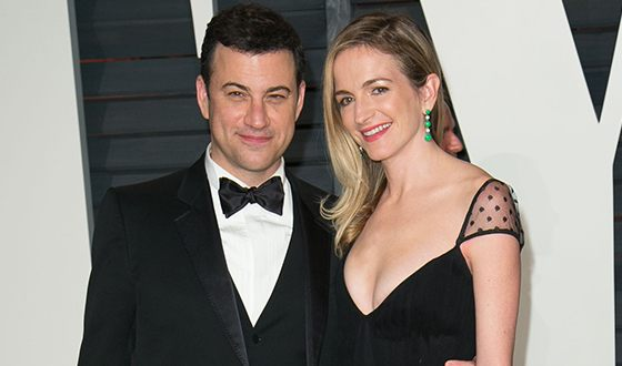 Jimmy Kimmel and his wife Molly McNearney