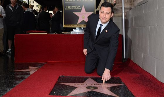 Jimmy Kimmel got his start at the Hollywood Walk of Fame
