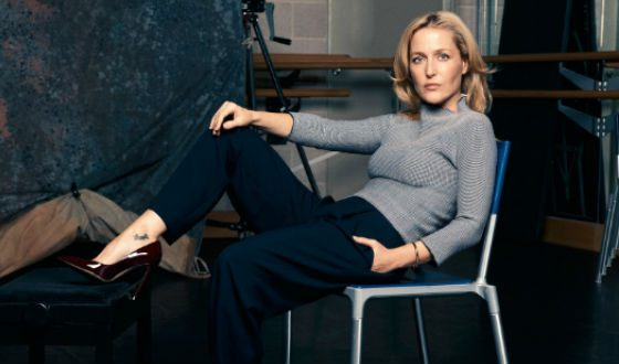In the photo: Gillian Anderson