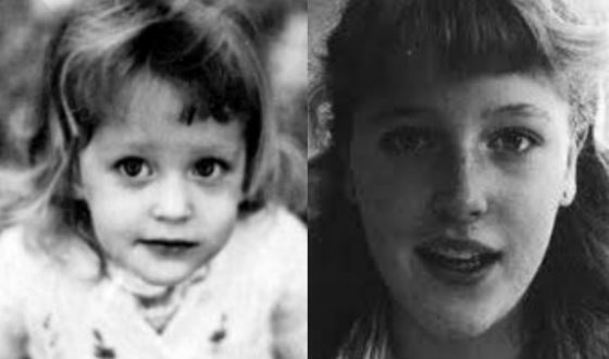 Gillian Anderson in childhood