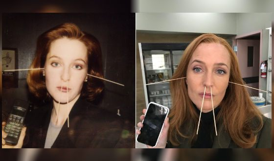 Gillian Anderson then and now