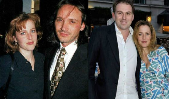 Left: Gillian Anderson first husband; right: her common-law husband Mark Griffiths