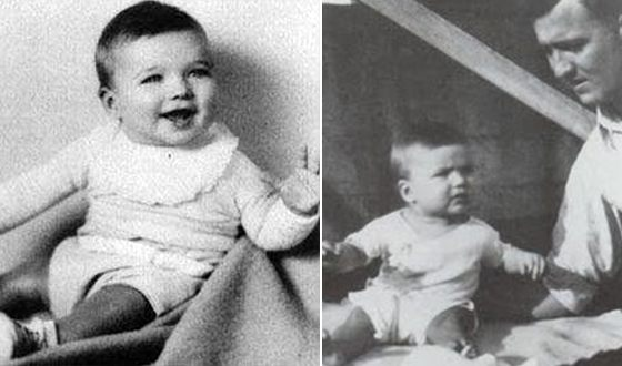 Clint Eastwood in childhood (from the right with his father in the photo)