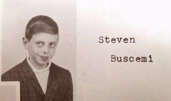 Steve Buscemi in childhood (photo from the school album)
