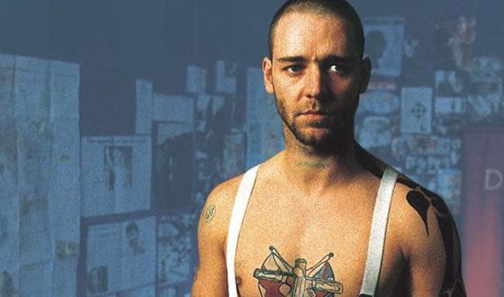 Russell Crowe in the film «Romper Stomper»