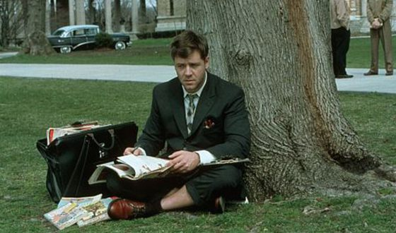 Russell Crowe in the movie «A Beautiful Mind»