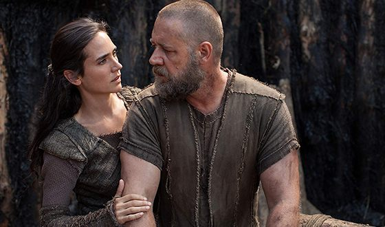 Russell Crowe with Jennifer Connelly in the film «Noah»