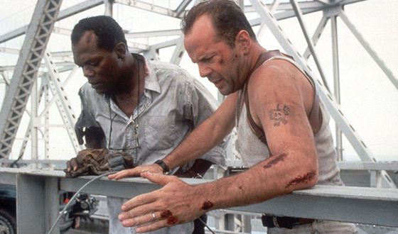 Samuel L. Jackson with Bruce Willis in the blockbuster «Die Hard 3»