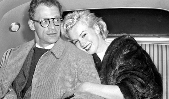 Marilyn Monroe and her third husband, Arthur Miller