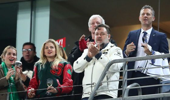 Russell Crowe is the «Rabbitohs» football team owner