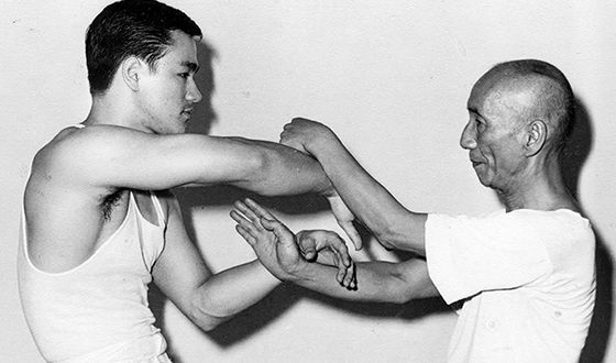 Bruce Lee and his teacher Ip Man