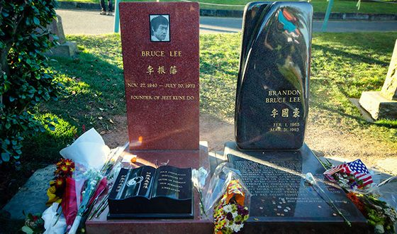 Bruce Lee is buried at the Lakeview Cemetery in Seattle