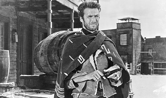 Clint Eastwood in the image of Joe in the «A Fistful of Dollars»
