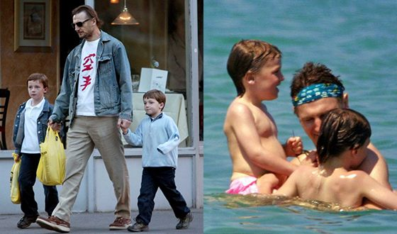 Liam Neeson with His Sons