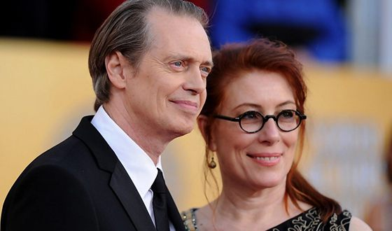 Steve Buscemi with his wife Jo Andres