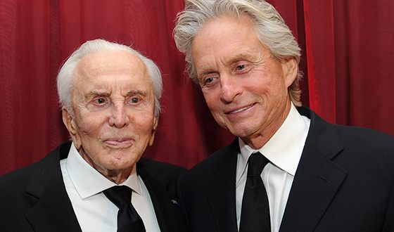 Michael Douglas with his father