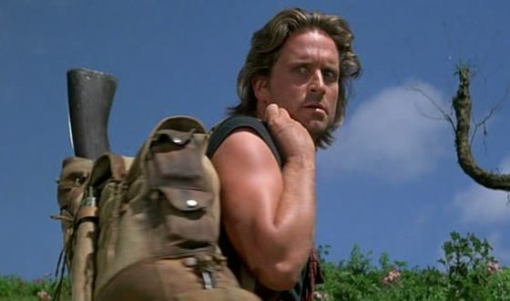 Michael Douglas in the Romancing the Stone