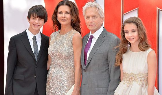 Michael Douglas with his family