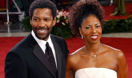 Denzel Washington with his wife Pauletta