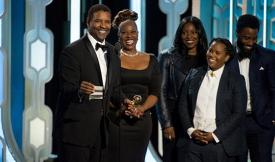 Denzel Washington with this family