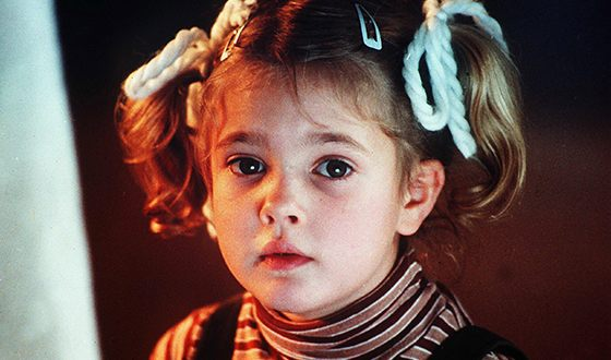 Drew Barrymore in her childhood