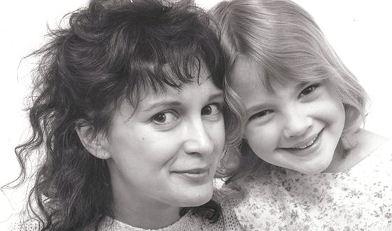Drew Barrymore and her mother