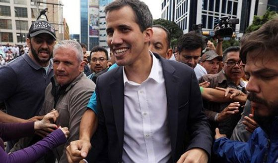 The leader of the Venezuelan opposition – Juan Guaido