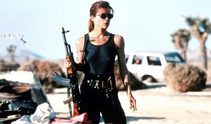 Linda Hamilton as Sarah Connor in The Terminator