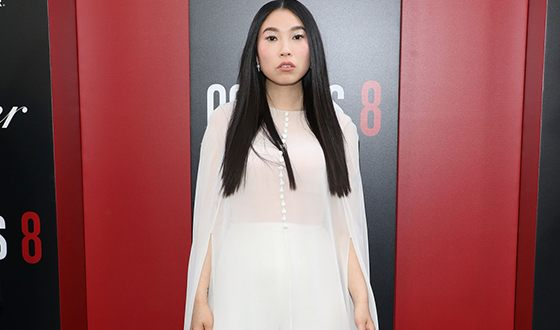 Awkwafina on the red carpet