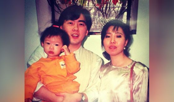 Awkwafina and her parents