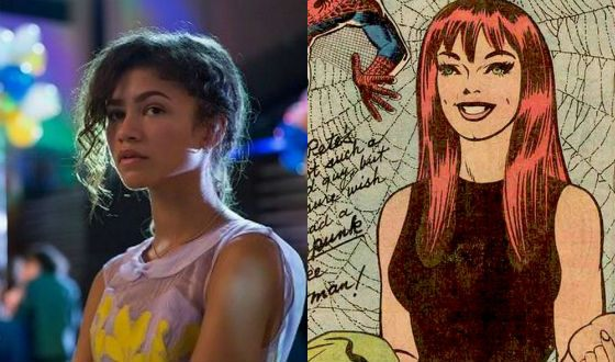 Mary Jane in the screenings and comics