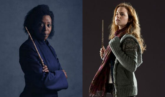 Black and white Hermiones