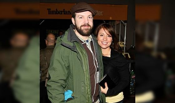 Jason Sudeikis with his ex-wife Kay Cannon
