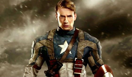 Chris Evans in the image of Captain America