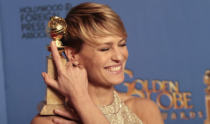 Robin Wright at The Golden Globe Awards