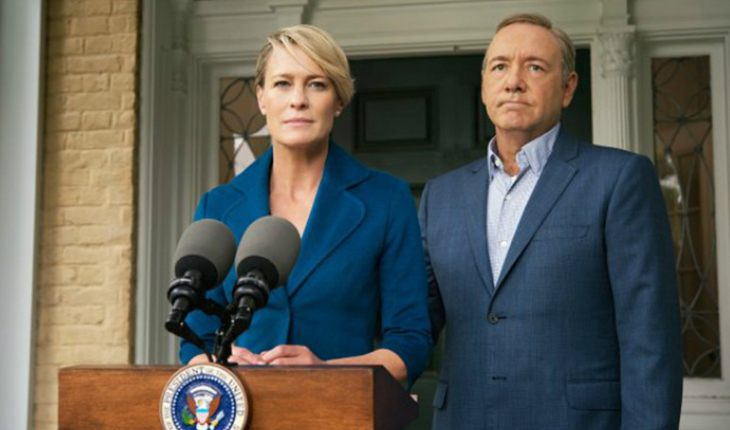 Robin Wright and Kevin Spacey in the House of Cards