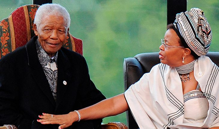 Nelson Mandela with his wife