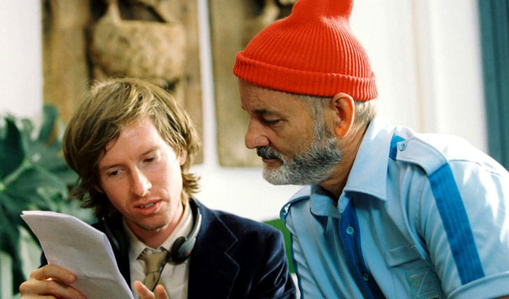 Bill Murray and Wes Anderson on the Set of The Life Aquatic with Steve Zissou
