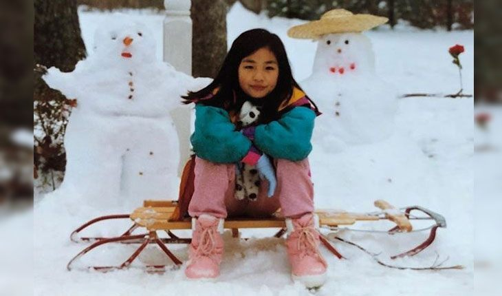 Childhood pictures of Constance Wu